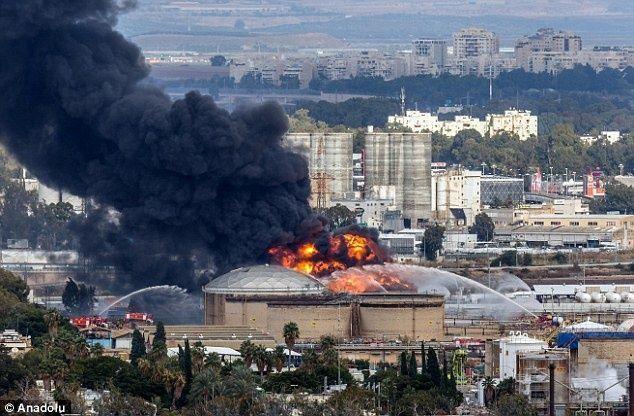 حريق في مصفاة إسرائيلية في حيفا