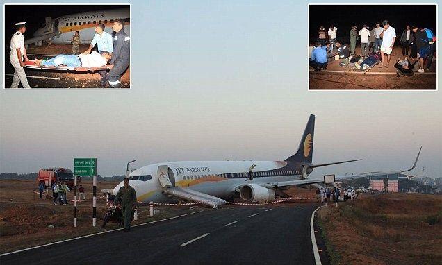 إصابة 12 بعد انحراف طائرة عن مدرج مطار بالهند