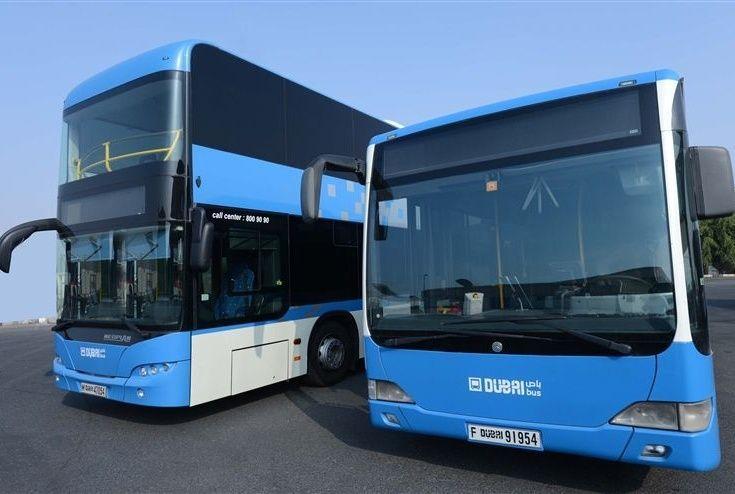 """""""طرق دبي"""" تطلق أشكالا وألوانا جديدة للحافلات المغذية للمترو"""