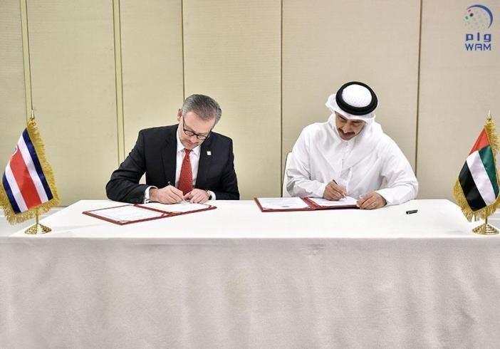 الإمارات وكوستاريكا يوقعان على تعديل اتفاقية الإعفاء المتبادل من تأشيرة الدخول المسبقة