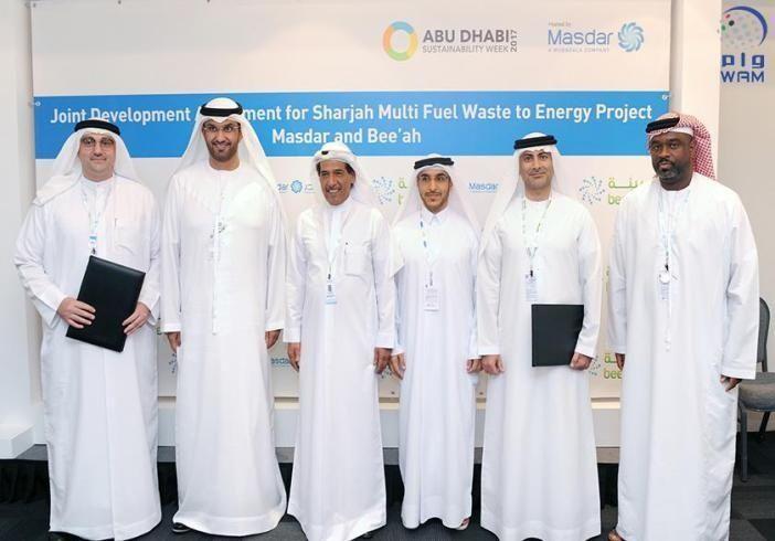 """""""مصدر"""" أبوظبي  و""""بيئة"""" الشارقة تطوران منشأة لتحويل النفايات إلى طاقة"""
