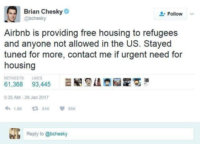 سكن مجاني لضحايا قرار ترامب من رئيس شركة تأجير بيوت حول العالم