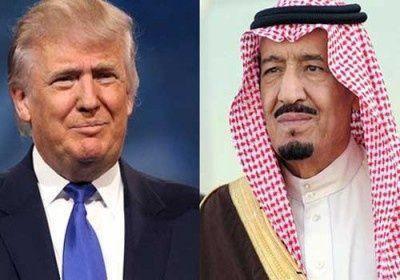 العاهل السعودي وترامب يتفقان على دعم إقامة مناطق آمنة بسوريا واليمن