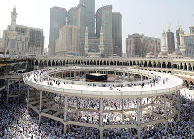 بالصور :  إزالة نسبة 90% من أعمال المطاف المؤقت بالمسجد الحرام