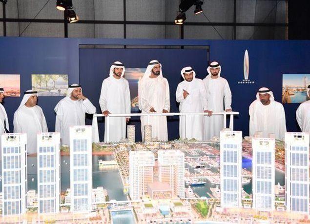 """بالصور : محمد بن راشد يطلق """"دبي هاربور"""" أكبر مرفأ لليخوت بالشرق الأوسط وشمال أفريقيا"""