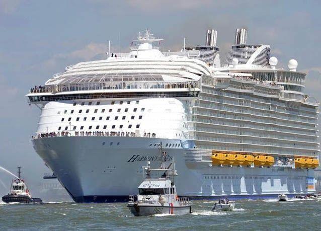 """بالصور : أكبر سفينة سياحة في العالم """"هارموني أوف ذا سيز"""" تنطلق في رحلتها الأولى من فرنسا"""
