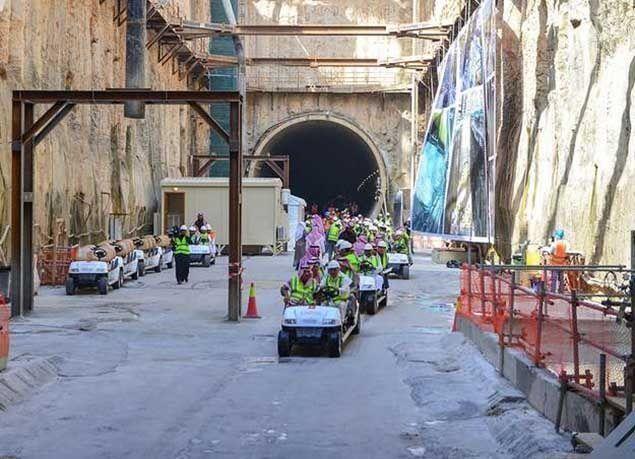 """بالصور : إنجاز 48 % من مشروع """"قطار الرياض"""""""