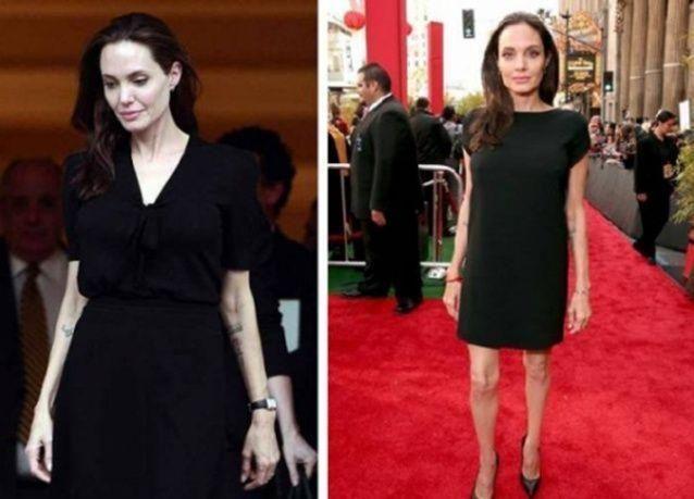"""بالصور : تدهور الحالة الصحية للنجمة """"انجلينا جولي"""" بعد انخفاض وزنها لـ 35 كجم"""