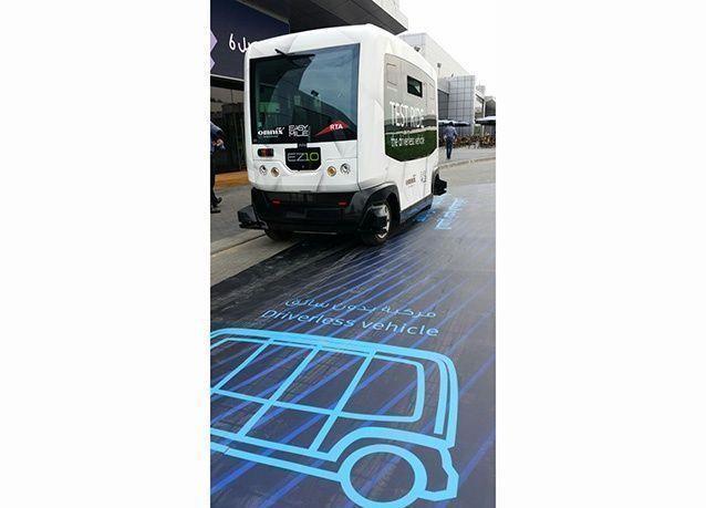 بالصور : أول مركبة ذكية دون سائق تتسع لـ 10 ركاب في دبي