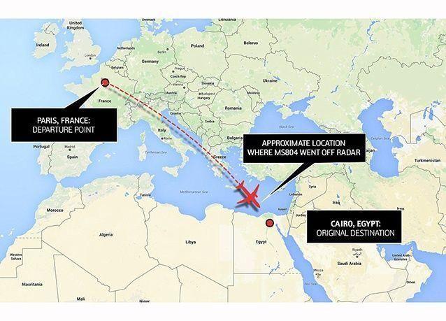 وزير : انحراف مفاجئ لطائرة مصر أدى لسقوطها