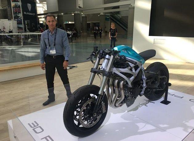 بالصور : أول دراجة نارية بتقنية الطباعة ثلاثية الأبعاد