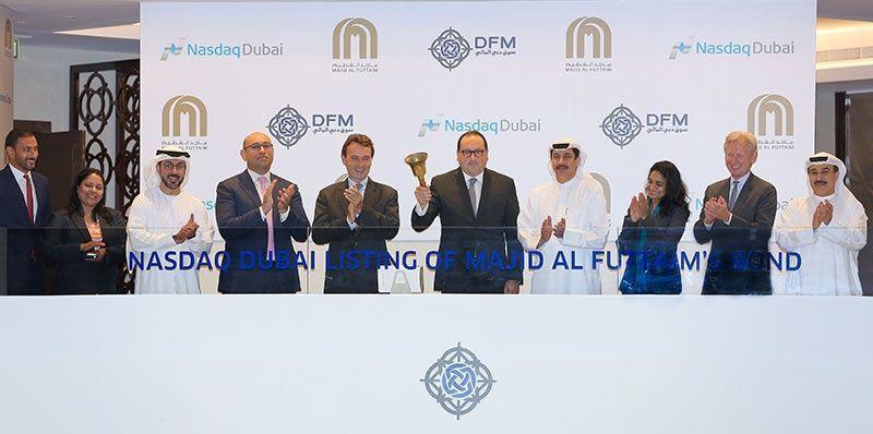 """""""ماجد الفطيم"""" تحتفل بإدراج سندات بقيمة 300 مليون دولار في ناسداك دبي"""