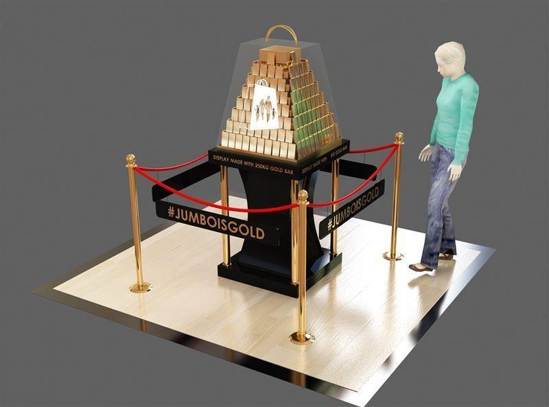 """""""دبي للتسوق"""" يعرض حقيبة بحوالي 35 مليون درهم تحوي 250 كيلوجراماً من السبائك الذهبية"""