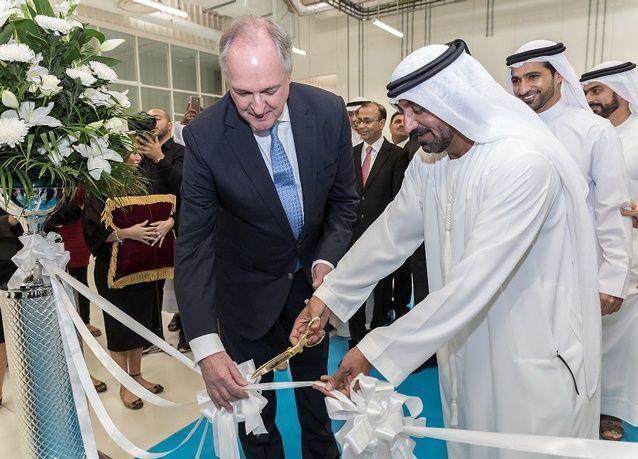 أحمد بن سعيد آل مكتوم يفتتح أكبر مصنع لشركة يونيليفر في المنطقة ضمن مدينة دبي لتجارة الجملة