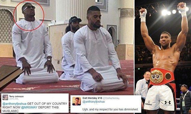 بطل العالم للملاكمة يتعرض لإهانات وشتائم بعد نشره صورة لمسجد صلى فيه في دبي