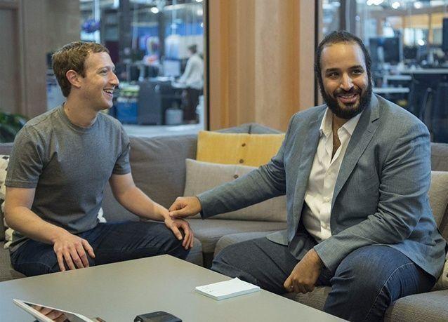 """بالصور : محمد بن سلمان يزور شركة فيسبوك ويلتقي مؤسسها """"مارك زوكربيرغ"""""""