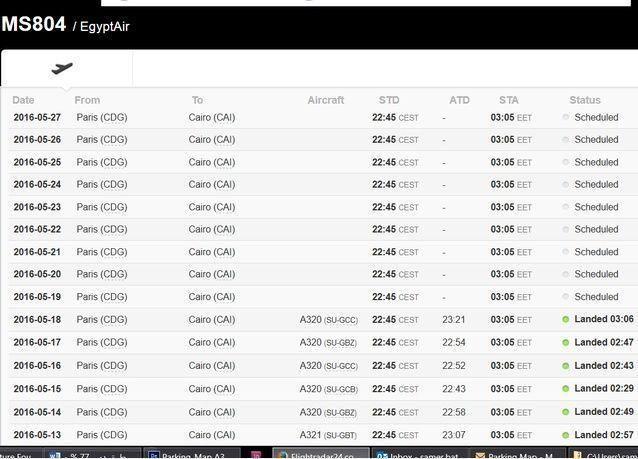 اختفاء طائرة ركاب مصرية بعد الدخول إلى المجال الجوي المصري بعشرة أميال
