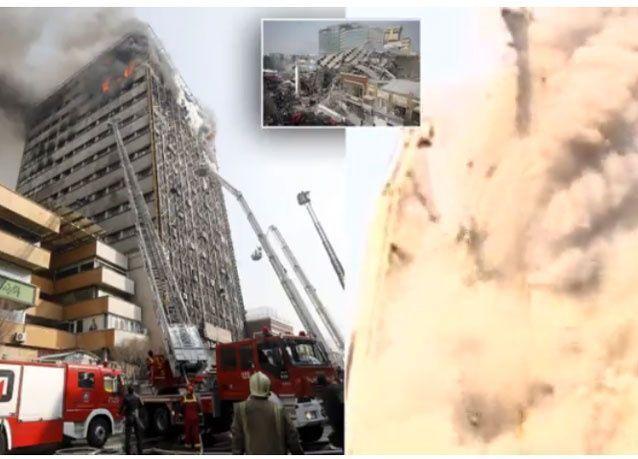 انهيار مركز تسوق في إيران نقله بث تلفزيوني مباشر