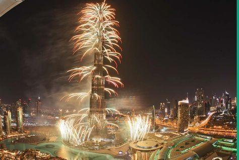 الكشف عن احتفالات رأس السنة بالألعاب النارية بومضات من معرض إكسبو 2020