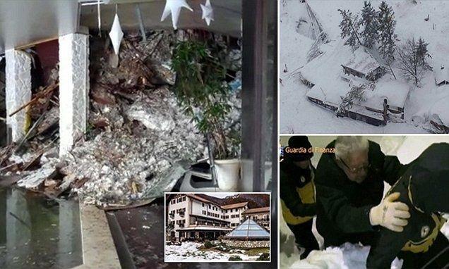 انهيار جليدي يضرب فندقا في إيطاليا