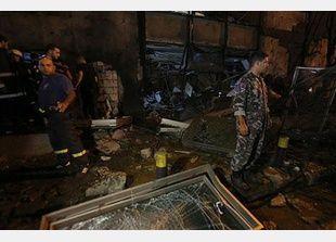تفجير سيارة مفخخة خلف مبنى بنك لبنان والمهجر وسط بيروت