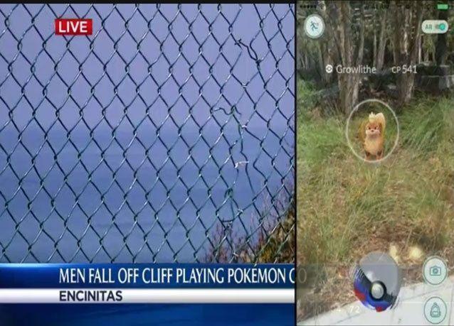 أول ضحايا بوكمون غو، سقوط شابين من أعلى منحدر في سان دييغو