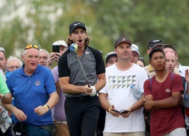 """بالصور : """"تومي فليتوود"""" يتوج بكأس بطولة أبوظبي """"HSBC"""" للجولف 2017"""
