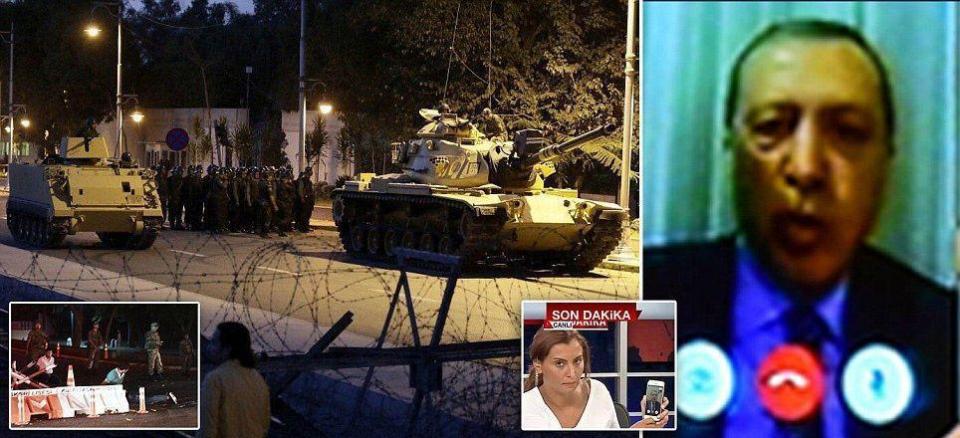 عاجل: الجيش التركي يعلن الاستيلاء على السلطة ورئيس الوزراء يقول إنها محاولة انقلاب