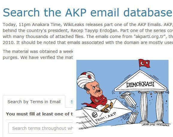ما الذي تكشفه تسريبات ويكيليكس عن حزب العدالة التركي؟
