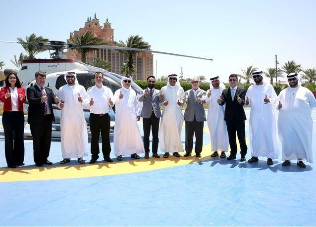 هيئة دبي للطيران المدني تمنح منتجع أتلانتس النخلة في دبي شهادة مهبط الطائرات