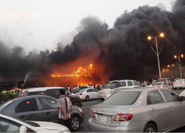 احتراق مول تجاري قبل افتتاحه في مدينة سعودية.. في ظاهرة متكررة