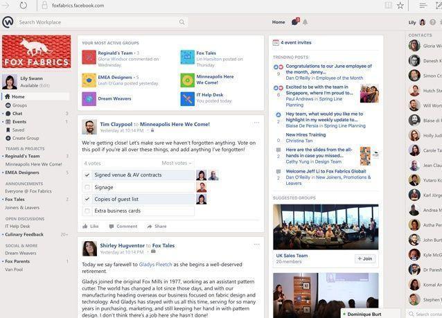 فيسبوك أصبح مكاناً للعمل