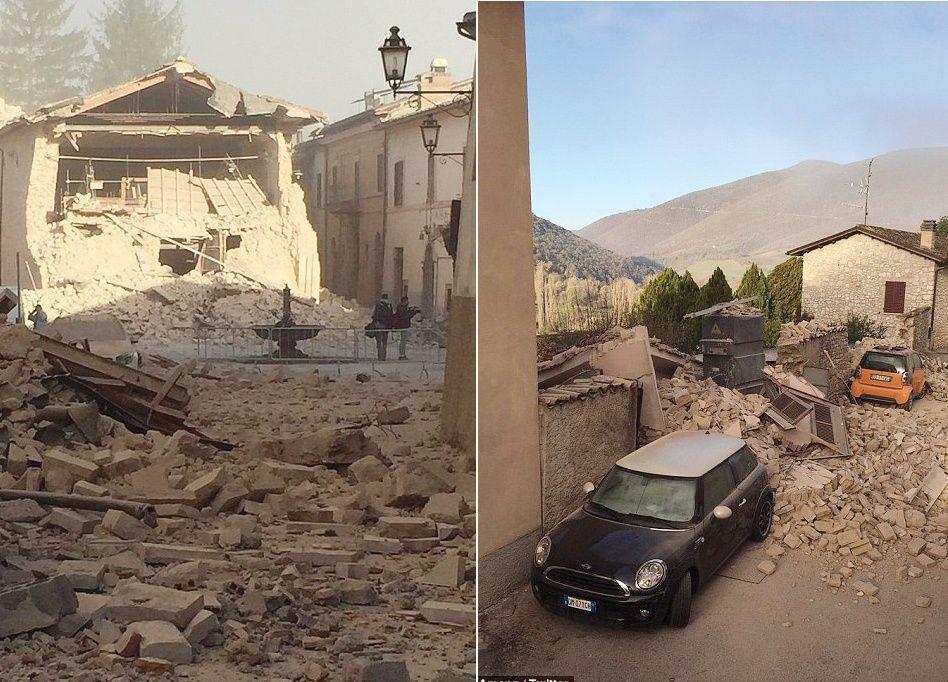 زلزال قوي يضرب وسط إيطاليا