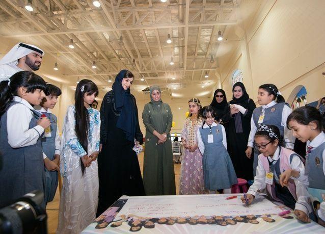 """الإمارات: آلاف الأطفال في المدارس يساهمون في تصميم شعار """"البرنامج الوطني للسعادة والإيجابية"""""""