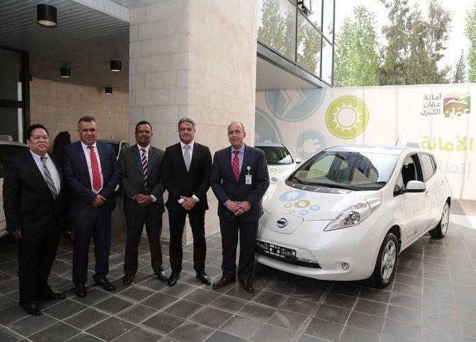 """""""نيسان"""" توقع اتفاقية مع أمانة عمّان الكبرى لنشر سياراتها الكهربائية"""