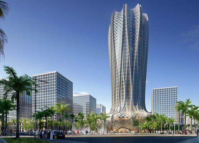 برج بتصميم زها حديد بهيئة خزامى الصحراء
