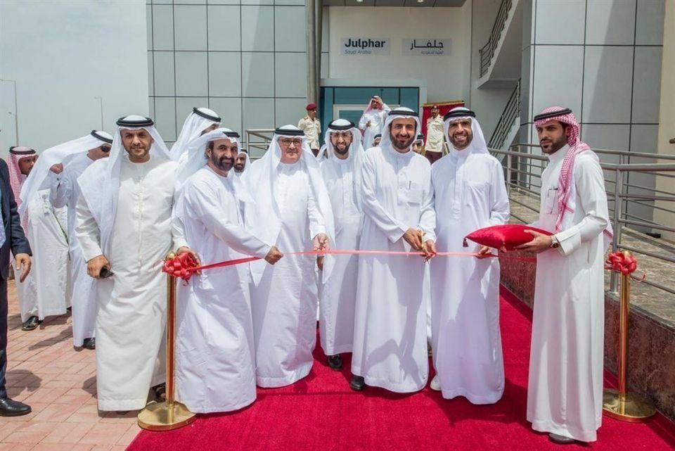 فيصل بن صقر القاسمي يدشن مصنع جلفار السعودية في جدة