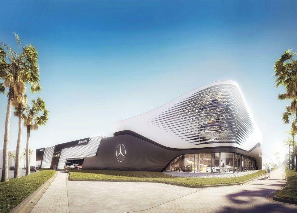 """اتفاقية لمشروع أول معرض لسيارات """"مرسيدس-بنز"""" و""""إي أم جي"""" في جزيرة ياس"""