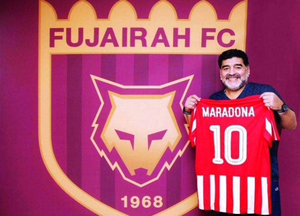 مارادونا مدرباً لنادي للفجيرة