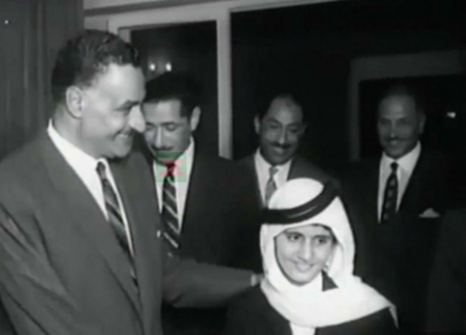 صورة تاريخية لمحمد بن راشد وعبد الناصر
