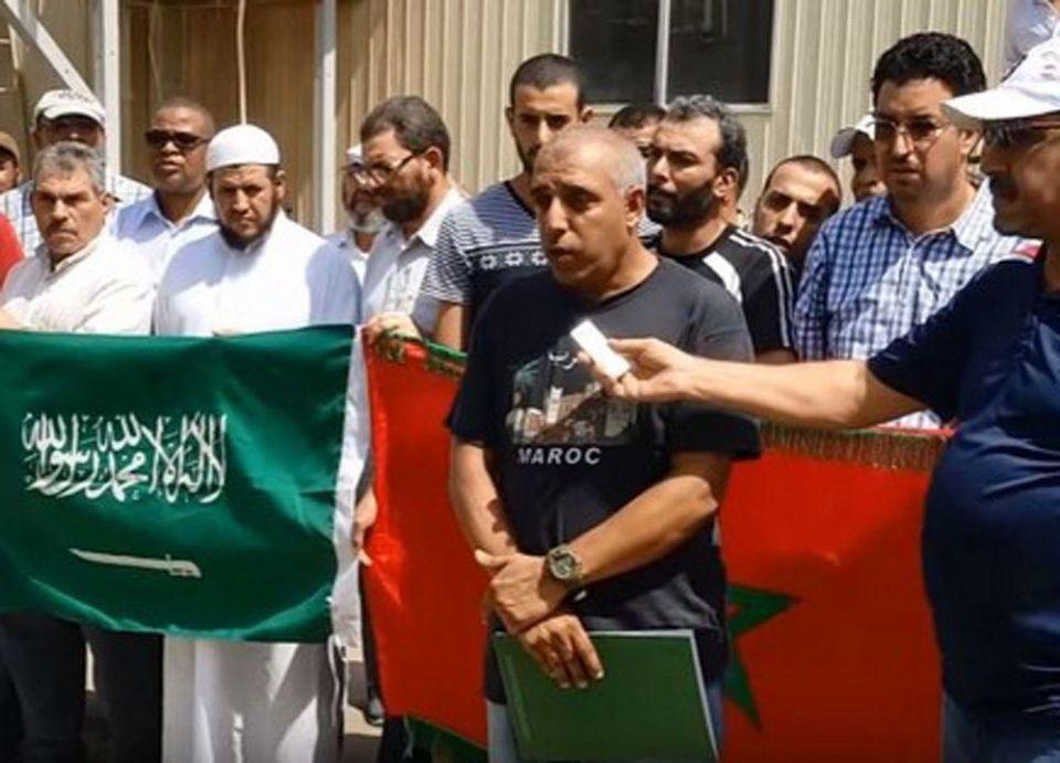 عمال سعودي أوجيه بقصر سعودي بالمغرب يحتجون من جديد