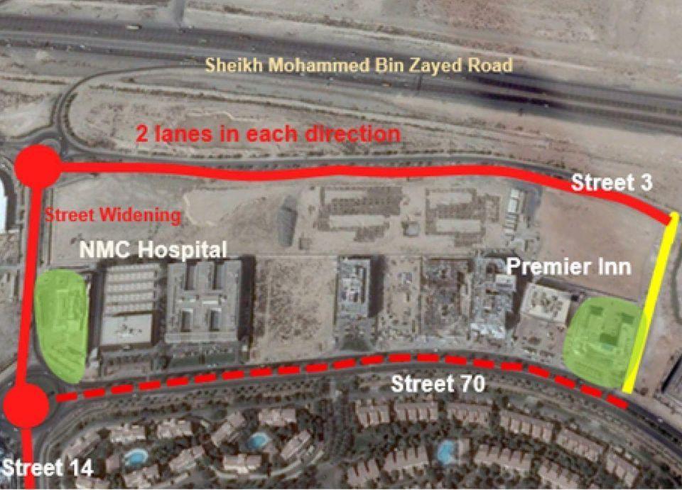 تحويلات مرورية في الطرق الداخلية لمجمع دبي للاستثمار ومنطقة الديسكفري جاردنز