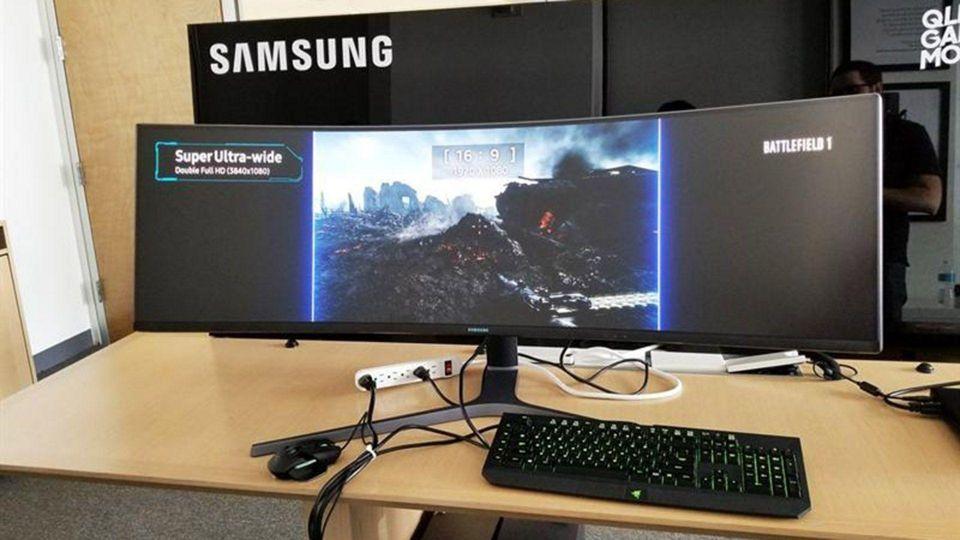"""بالصور : """"سامسونج"""" تكشف النقاب عن أعرض شاشة حاسوب على الإطلاق"""