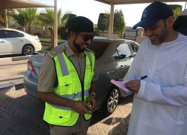 الاشعار بالتعهد بدلا من المخالفة المرورية مبادرة من شرطة دبي