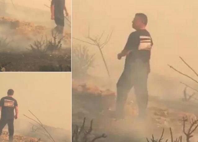 بالفيديو ... ملك الأردن يشارك في إخماد حريق قرب القصور الملكية