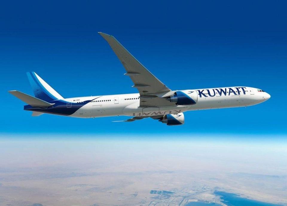 طائرة كويتية تتعرض لحادث أرضي