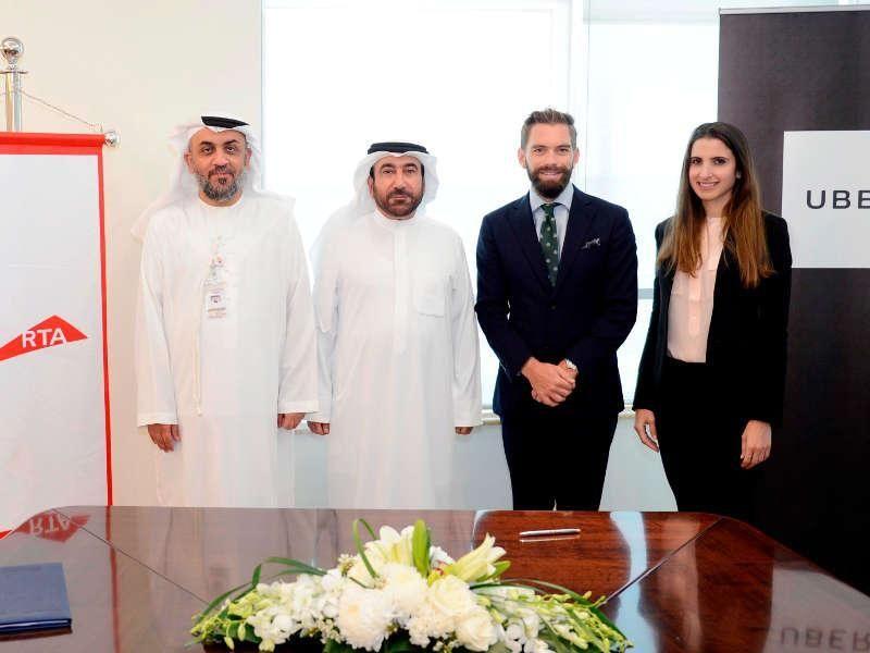 اتفاقية لحجز ليموزين تاكسي دبي عبر تطبيق أوبر