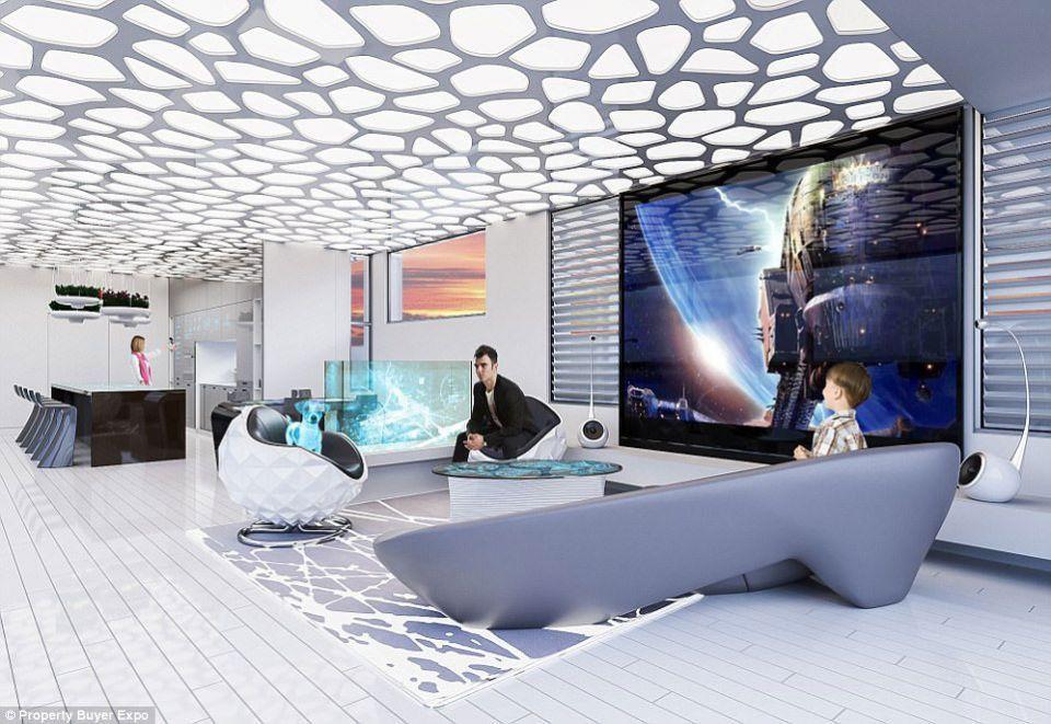 تصاميم لبيت المستقبل الذكي عام 2040 !