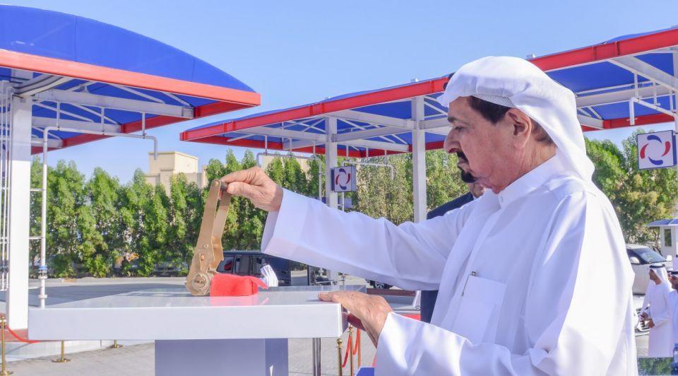 حاكم عجمان يفتتح محطة صافي لتحلية ومعالجة مياه الصرف الصحي
