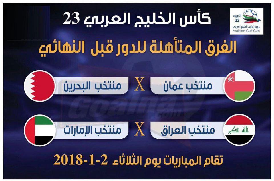 موعد لقاء منتخب الإمارات بنظيره العراقي
